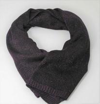 Steve Madden LUREX Metallic Knit Scarf Wrap, Purple - $17.82