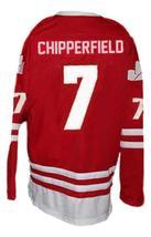 Custom Name # Calgary Cowboys Retro Hockey Jersey New Chipperfield Red Any Size image 2