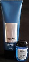 Bath & Body Works Ocean Shea Body Cream & Pocketbac - $16.38