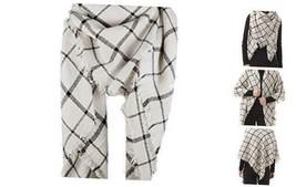 Women's Plaid Blanket Scarf Winter Tassels Warm Tartan One Size Beige Plaid - $22.84
