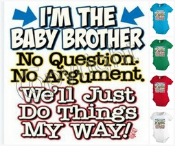 I`M THE BABY BROTHER Infant Baby one-piece Bodysuit Snapsuit Girl Boy KP185 - $12.99