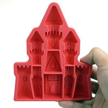 Palace Castle Shaped Ice Cube Tray Silicone 3d Diamonds Gem Cool Ice Cub... - $14.73