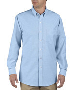 D-SS36LB DICKIES L/S BUTTON-DOWN LIGHT BLUE OXFORD SHIRT - $14.95+