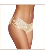 Floral Lace Open Criss Cross Sides Below The Waist Boy Cut Panties - $21.95