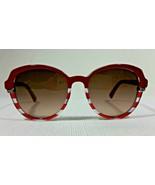 Christian Dior Croisette3 Red Clear Frame Womens Sunglasses Gray Gradien... - $379.99