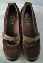 Merrell Performance Plaza Bandeau Chocolate Brown Mary Janes Ortholite Shoes 8 image 4