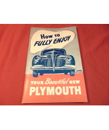 1941 Plymouth Automobile, Owners Manual.  - $21.99