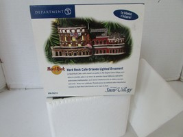 DEPT 56 55213 HARD ROCK CAFE ORLANDO LIGHTED ORNAMENT MINT IN BOX - $14.65