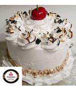 Dezicakes Fake Cake White Frosted Chocolate Carmel Cake w/Cherry Faux Ca... - $29.69