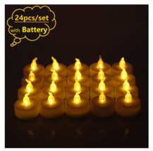 Flickering Led Candle Flameless Electric Battery Tea Candles Led Lights ... - £10.65 GBP+