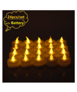 Flickering Led Candle Flameless Electric Battery Tea Candles Led Lights ... - $14.90+