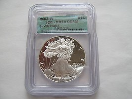 2003 W , Silver Eagle , ICG , PR 70 , DCAM - $173.25