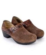 Dansko Brown Suede Leather Clogs Occupational Nursing Shoes Womens 8.5 -... - $34.64