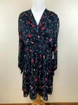 NWT Gal Meets Glam 12 Black Cherry Floral Londyn Tie Sleeve Chiffon Dress - $64.99