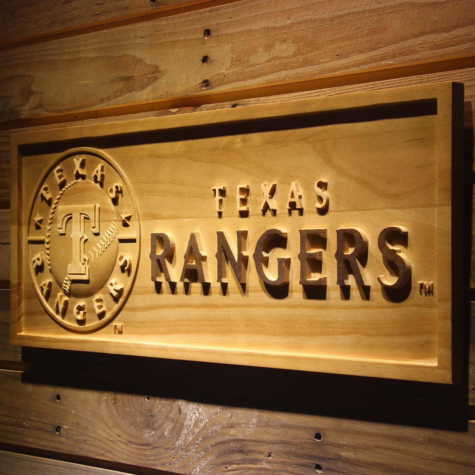 Baseball Home Decor: Texas Rangers MLB Baseball Team Wooden Sign Wall Art Home