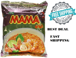 30 Packages Mama Tom Yum Shrimp Flavour Instant Noodles Easy To Make NEW - $18.40