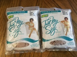 Just My Size Pantyhose Plus Size Regular 2 Pack 81330-S3O Off White 3x
