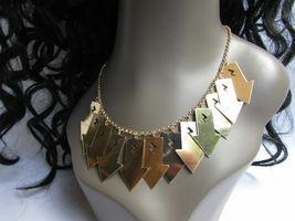 Mujer Sexy Metal Dorado Lightning Flechas Encanto Moda Joyería Collar Set image 8