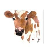 Dolly Estrelle Carmelo Cow Calf Beautiful Vibrant 11x14 Art Print Poster - $14.99