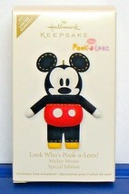 Limited Edition Mickey Mouse 2011 Hallmark Ornament Look Who's Pook a Looz - $12.90