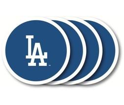 LA DODGERS 4 PACK HEAVY DUTY VINYL DRINK COASTER SET MLB BASEBALL - $13.92