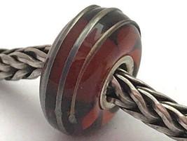 Authentic Trollbeads Golden Brown Thread Bead (12mm Diameter Charm, 61394 New - $23.74
