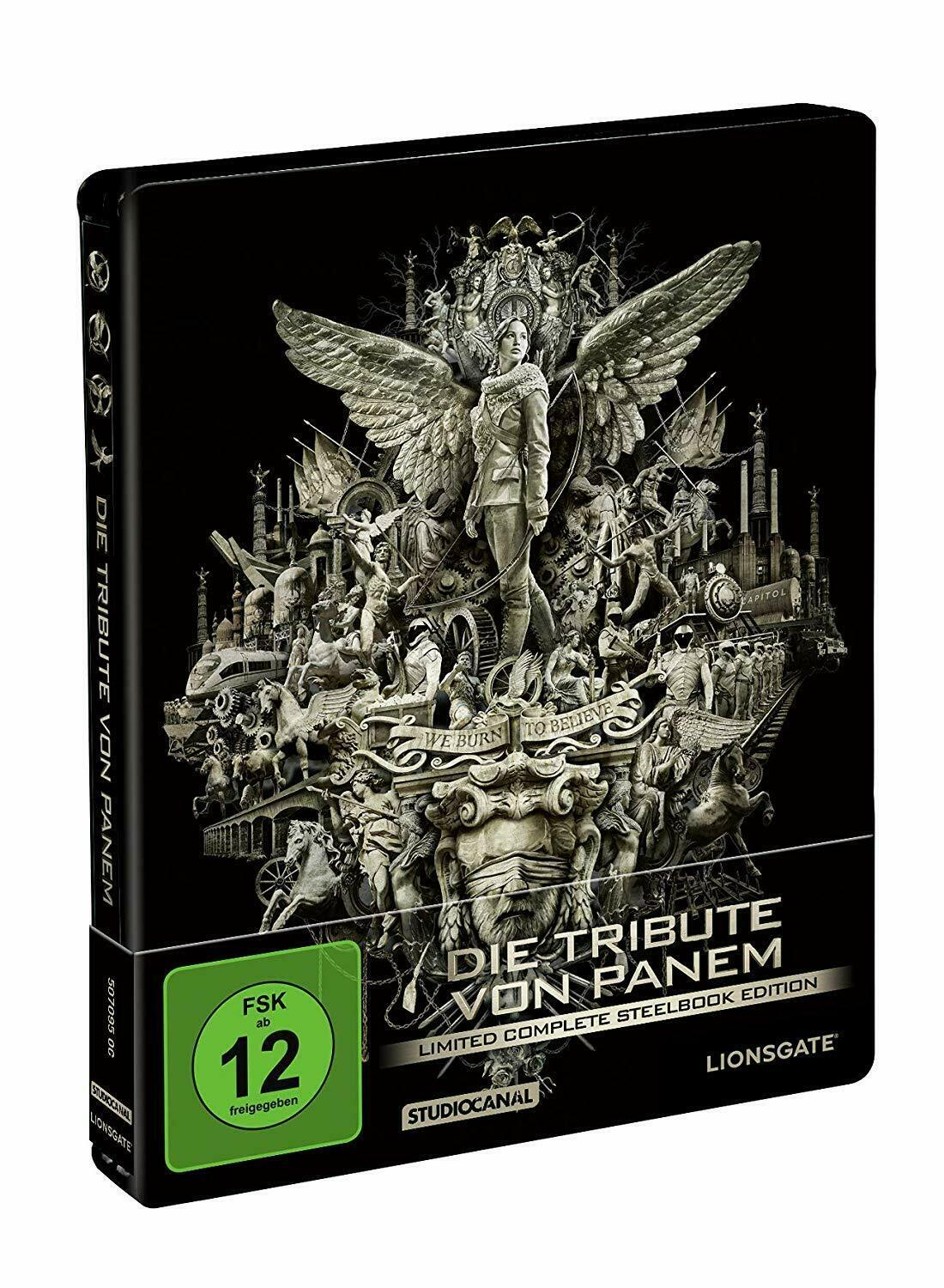Show full-size image of LIMITED The Hunger Games - Complete Edition Stunning German Import! Blu-Ray!