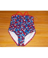 Size XS 4-5 OP Ocean Pacific One-Piece Swimsuit Patriotic Stars Red Navy... - $16.00