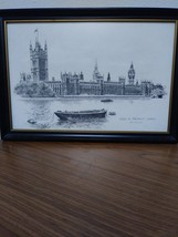 Two Ron Marsden Lithegraphs of London Westminster Abbey and Big Ben.House of Par image 1