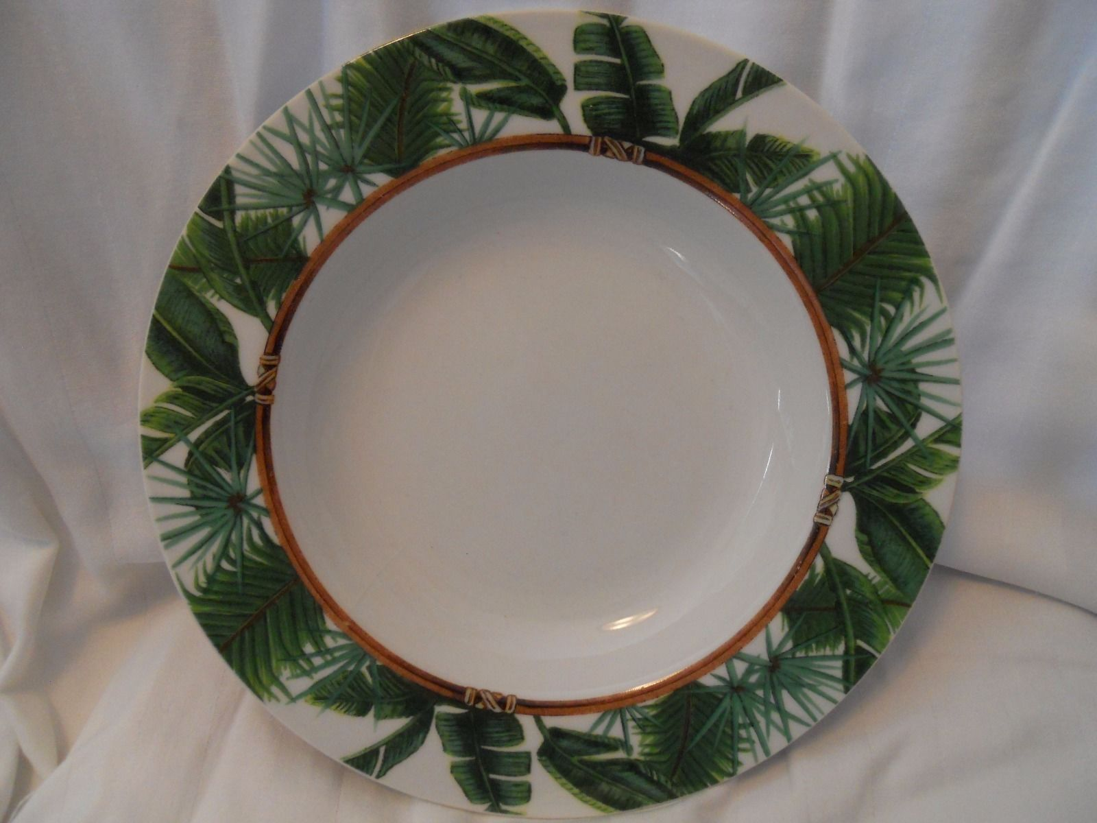 Florida Marketplace Palm Island 8 5/8 inch rim soup bowl palm leaves new & Florida Marketplace Palm Island 8 5/8 inch and 50 similar items