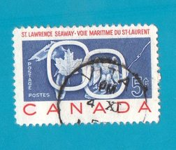 Canada (used postage stamp) Commemorative Saint Lawrence Seaway - $1.99