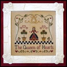 CLEARANCE A Queen of Hearts cross stitch chart Classic Colorworks  - $4.00