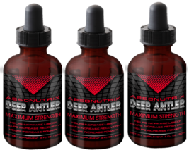 3 Absonutrix Deer Antler Maximum strength 2 Fl Oz helps increase endurance - $39.99