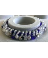 """Womens Royal Blue Beaded Bracelet Handmade 6 1/2"""" - $13.99"""