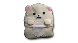Rilakkuma White Bear Cute Soft Furry Plush HandBag Backpack Bag School B... - $13.99