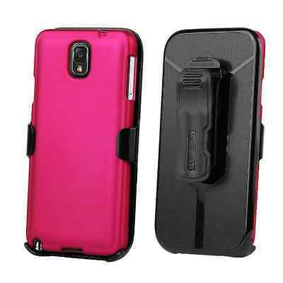 Beyond Cell 3 in 1 Kombo Case & Holster For Samsung Galaxy Note 3 (Rose Pink)