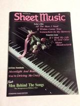 Sheet Music Magazine May/June 1991 Vintage Standard Piano Ed Hits All-Time  - $3.99