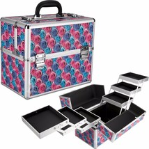 New Makeup Cosmetics Beauty Brushes Organizer Storage Holder Floral Case... - $59.99