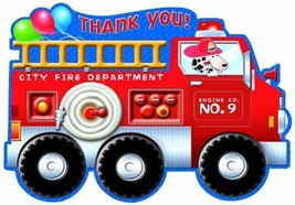 Fire Engine Fun Thank You Notes 8ct - $6.92