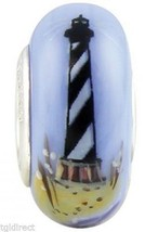 New Fenton Art Glass Jewelry Bead Mystic Lighthouse Sterling Silver Core... - $45.00