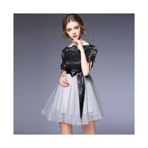 Summer Fasionable Bowknot Lace Bubble Skirt Dress 60205   S - $67.99