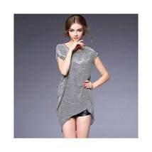 Fashionalbe Microgroove Irregular Silk Dress60207   S - $75.99