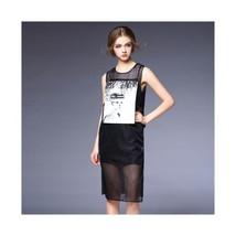 Fashionable Grid Splicing Avatar 2pcs Dress60190   S - $75.99