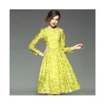 Spring Dress Temperament Printing A Shape Big Peplum Middle Long Skirt  S - $83.99