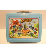 Vintage 1980s Smurfs Plastic Lunchbox Clean No ... - $24.45