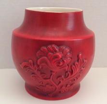 Royal Haeger Red Pottery Vase USA Vintage - $55.58