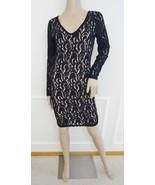 Nwt Plenty by Tracy Reese Nicole Lace V-neck  Sheath Dress Sz 6 Black Nu... - $69.25