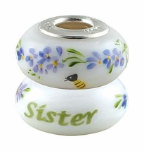 New Fenton Art Glass Artisan Bead Sister Sterling Silver Lined Jewelry C... - $35.00