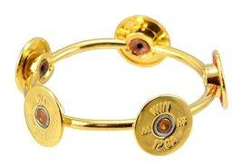Southlife - Lizzy J's Handmade Round Gold Plated 12 Gauge Shotgun Bullet Shel...