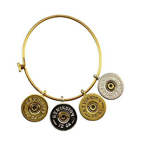 Southlife - Lizzy J's 4 Shotgun Shell Charm Cuff Bracelet, Mixed Metal Plated...